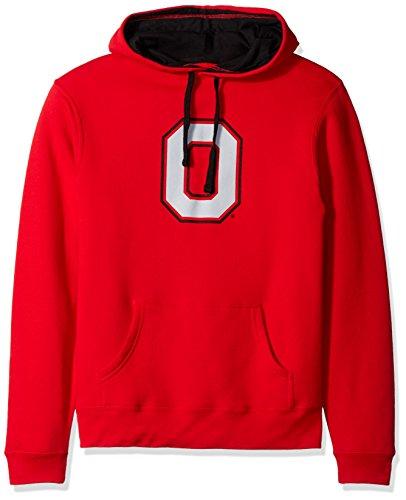 - J America NCAA Ohio State Buckeyes Men's Block O Foundation Hoodie, XX-Large, Red/Black
