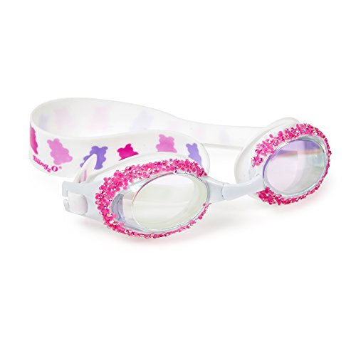 Swimming Goggles For Girls - Gummy Rocks Kids Swim Goggles By Bling2o (Candy Pink)