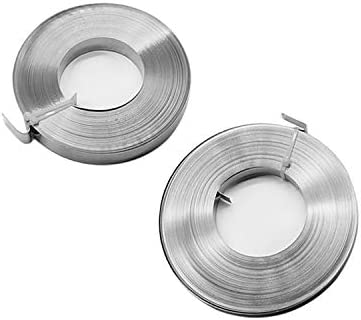 Luoshan 30m 304 Stainless Steel Wire Tray Oil Pipe Tie with Hoop, Size: 12×0.5mm