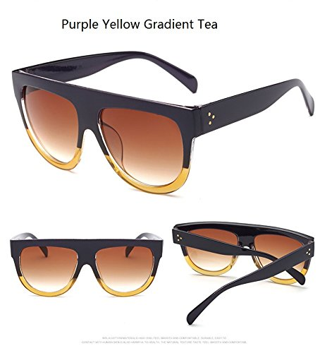 QiHorr(TM) Woman oculos Flat Top Big Oversized Mirror Sun Glasses Cat Eye  Sunglasses 6f16d915ff88