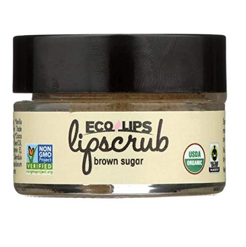 Ecolips Ecolips Organic Lip Scrub, Brown Sugar, 0.5 Ounce (6 pack)