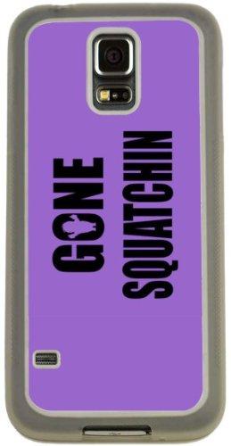 Rikki Knight Gone Squatchin on Violet Design Case (Clear TPU) for Samsung Galaxy S5