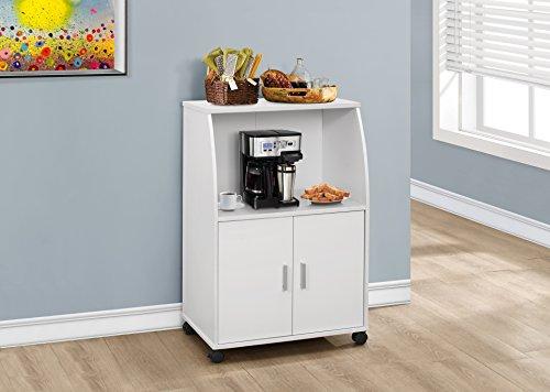 Monarch Kitchen Cart, White, 33'' by Monarch