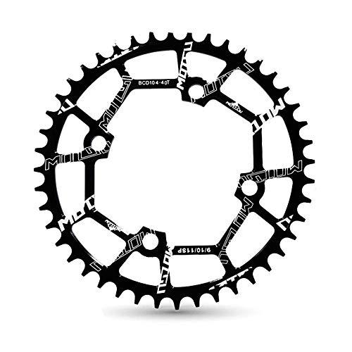 VXM 104BCD Chainring 40T 42T 44T 46T 48T 50T 52T【2019 CNC 7075-T6 Aluminum】 Narrow Wide Chain Ring for Road Bike,Mountain Bike,BMX Bike,MTB Bike Parts