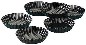 Frieling Zenker 4 Inch Mini Nonstick Tart Pans Set of 6 (Pack of 2)