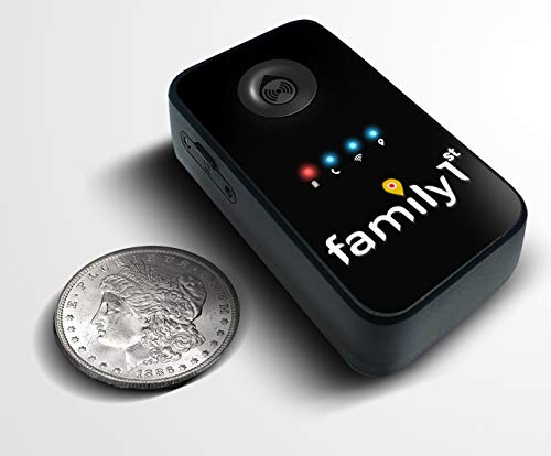 Family1st Vehicle GPS Tracker - Portable Smart GPS Trackers - Truck GPS Tracker for Geofencing Report, Harsh Braking & Low Battery Alert - GPS Tracking Kids Vehicles for Car, Stroller & Toolbox, Black