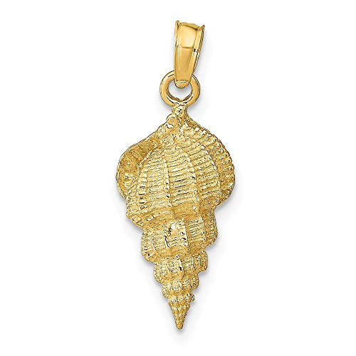 (14K Yellow Gold Conch Shell Pendant from Roy Rose Jewelry )