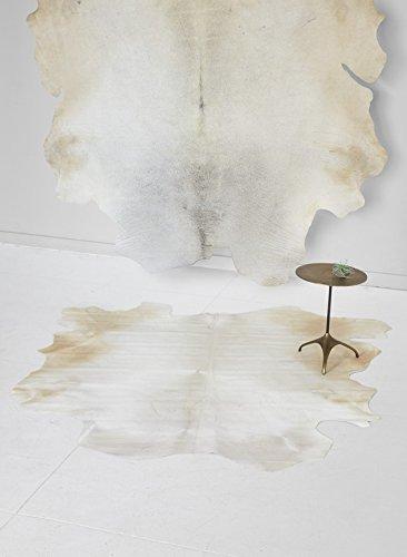 Serene Spaces Living White Cowhide (White Cowhide Rug)