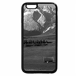iPhone 6S Case, iPhone 6 Case (Black & White) - High Mountains