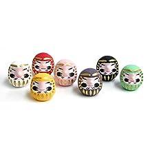 Miniature Daruma Doll (Japanese Good-Luck Charm) Seven Colors Set