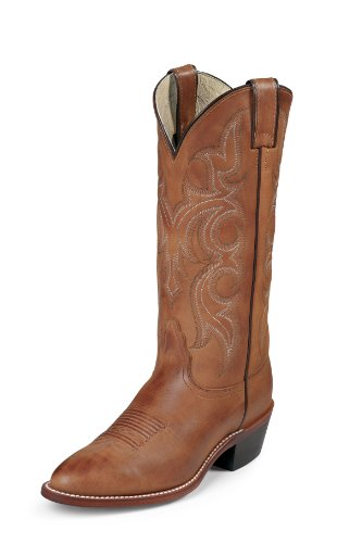 Ranch Hand Rancher Brown Leather Cowboy Boots 9.5 M ()