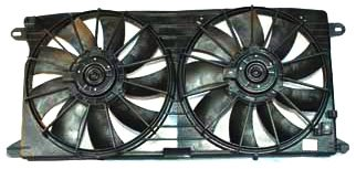 TYC 621390 Cadillac/Oldsmobile Replacement Radiator/Condenser Cooling Fan Assembly