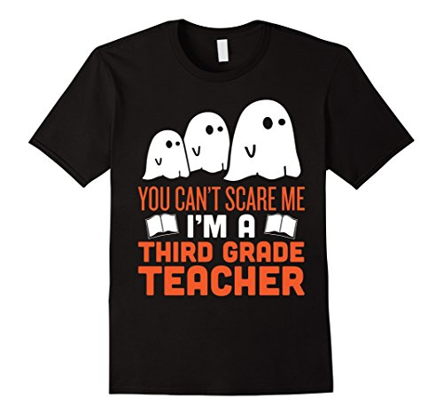 Mens Funny Scary Third Grade Teacher Halloween Costume Tshirt Small Black