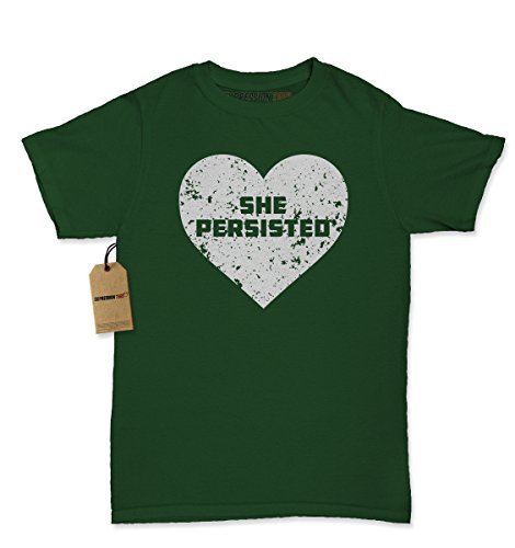 [Womens Heart She Persisted T-Shirt X-Large Forest Green] (Patriarchy Costume)