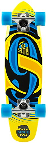Sector 9 Steady Complete Skateboard, Yellow