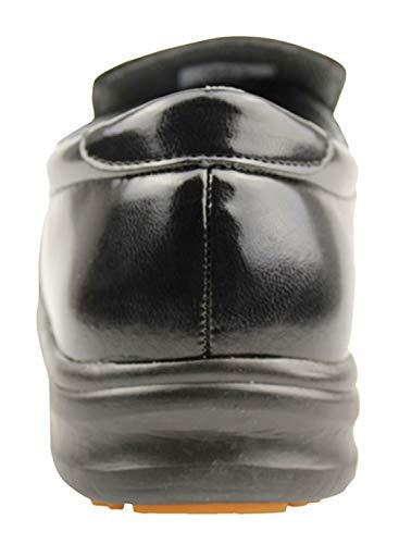 DDTX Men's Slip and Oil Resistant Slip-on Work Shoes Black (9.5) by DDTX (Image #7)