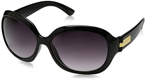 Big Buddha Women's Cleo Rectangular Sunglasses, Black, 56 - Sunglasses Buddha Big