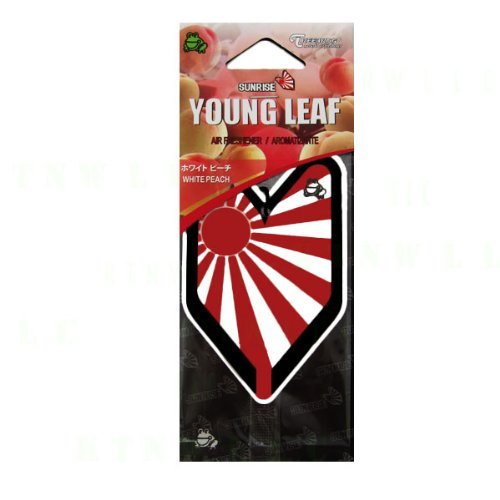 Treefrog Hanging Air Freshener Soshinoya Rising Sun Badge Single Pack - White Peach
