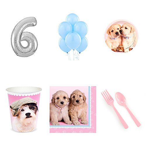 - Rachael Hale Glamour Dogs 6th Birthday Party Supplies Pack for 24