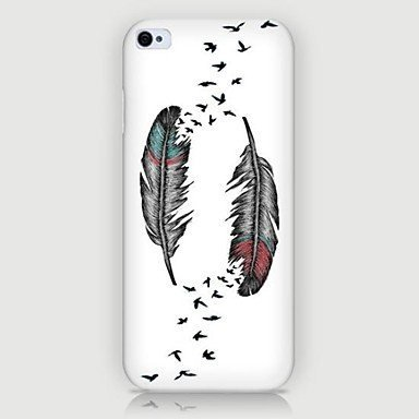 2 Feather Phone Case Custom Well-designed Hard Case Cover Protector For Iphone 5 5s
