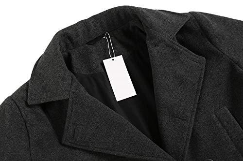 Giacca In Invernale Giacca Huixin Doppio A Petto Forma Sottile Epoca Vento Maschile Trench Manica Abbigliamento Lunga Elegante Grau Lana Collegio X7w5q5