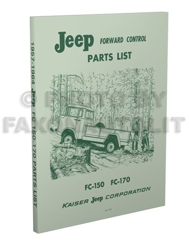 1957-1964 Jeep FC 150-170 Parts Book Reprint