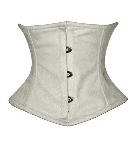 Luvsecretlingerie Full Steel Boned Cotton Waist Cincher Underbust Shaper Corset,XL (For waist 34