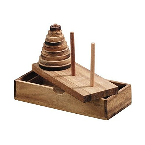 Handmade Tower Hanoi Wooden Puzzle product image