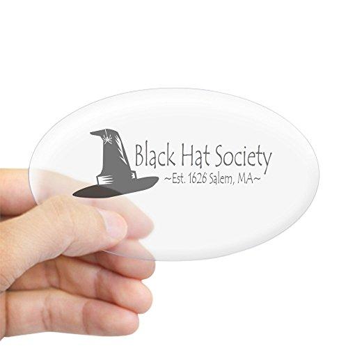 CafePress Black Hat Society Sticker Oval Bumper Sticker, Euro Oval Car Decal]()