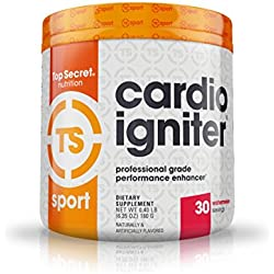 Top Secret Nutrition Cardio Igniter Pre-workout Supplement with Beta-alanine, L-Carnitine, and Red Beet Extract, 6.35 oz. (180g), (30 Servings) Watermelon