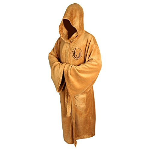 Kasual Adult Unisex Hooded Bath Robe Halloween Dressing Gown Costume Brown