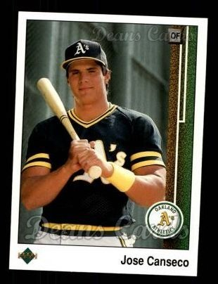 86c9fd62bd1 1989 Upper Deck   371 Jose Canseco Oakland Athletics (Baseball Card) Dean s  Cards 8