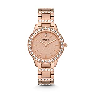 Fossil Women's ES3020 Jesse Rose Gold-Tone Stainless Steel Watch with Link Bracelet