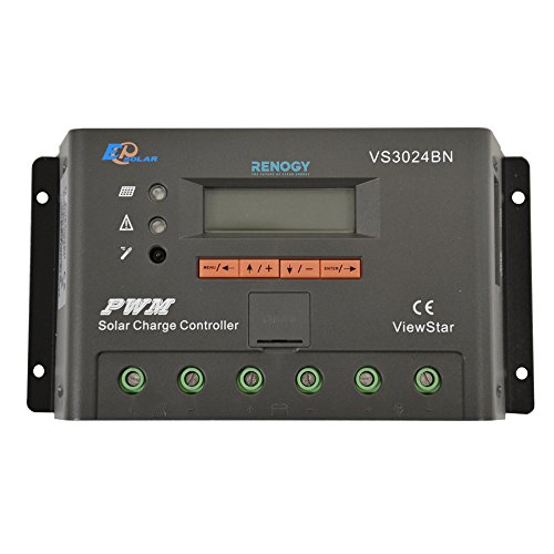 RENOGY ViewStar 30 Amp Negative grounded PWM Charge Controller with LCD Display