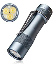 Led High Lumens EDC Flashlight torch - Lumintop FW3A Ultra-Bright 2800LM with 3 Cree XPL LED, UI Turbo for Professional Fans Pocket Searchlight IP68 Waterproof Torch,perfect gift for EDC enthusiasts,teens, adults in birthday, Christmas. (Cold White)