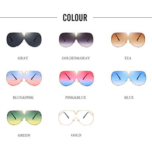 28afcac2f0 Buena Zhhlaixing Gafas de Sol Grandes del Marco Estilo Estrella Moda  Protección UV de las Lentes