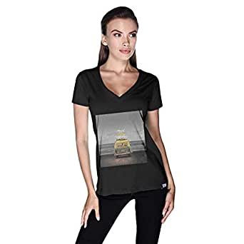 Creo Beach Van T-Shirt For Women - M, Black