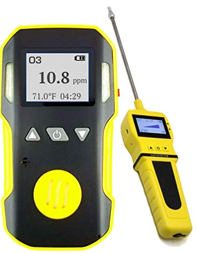 OZONE O3 Detector & Analyzer + PUMP with Probe by FORENSICS | Professional | ABS & Grip Rubber | Water, Dust & Explosion Proof | USB Rechargeable ...
