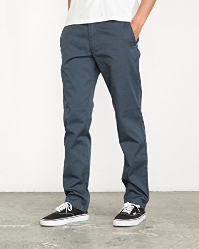 Weekend Chino Pants - RVCA Men's The Weekend Stretch Pant, Midnight, 32
