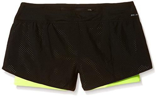 Nike pantalón rival perforated 2-In-1 pantalones cortos para mujer Negro - negro