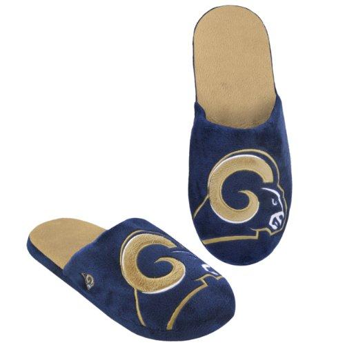 - NFL St. Louis Rams 2011 Big Logo Slide Slipper Hard Sole Small