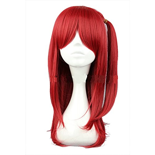 Magi Cosplay Wig The Labyrinth of Magic Morgiana Red Heat Resistant Fiber Halloween Accessories Long Straight Hair -