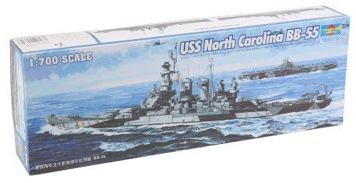 Trumpeter 1/700 USS North Carolina BB55 Battleship Model (North Carolina Battleship)