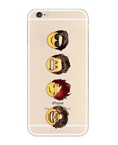 iPhone 6 Case, DECO FAIRY® Protective Case Bumper[Scratch-Resistant] [Perfect Fit] Translucent Silicone Clear Case Gel Cover for Apple iPhone 6 4.7 (Four Cartoon Boys iPhone 6 4.7)