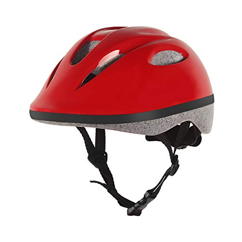 (BELEEV Kids Bike Helmet 5-8 Years Old, CSPC Safety Certified, 360 Degree Padded & Adjustable Multi-Sport Child Bicycle Helmet, Lightweight & Comfortable for Boys and Girls (Red))
