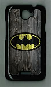 Batman-The Dark Knight Logo on Wood HTC ONE X Black Sides Hard Shell PC Case by eeMuse by mcsharks