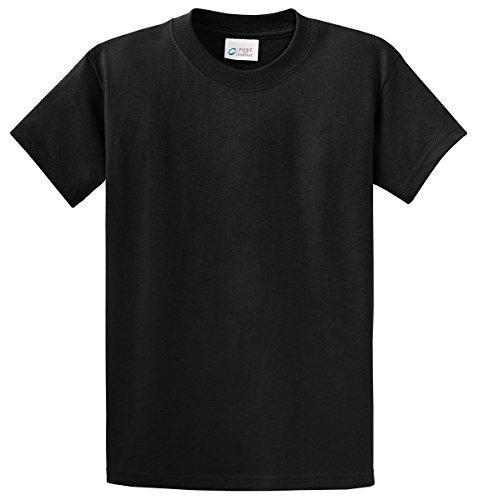 Port & Company Men's Essential T Shirt S Jet Black