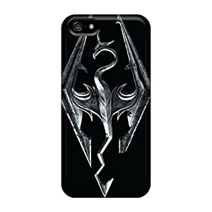 Iphone 5/5s JhB9468HWfE Support Personal Customs Trendy Skyrim Image Shock Absorbent Cell-phone Hard Covers -MansourMurray