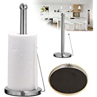 Freestanding Paper Towel Holder Hook Stainless Steel Kitchen Roll Suction Base