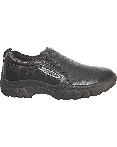 Roper Mens Performance Sport Slip-On Black Smooth Leather Loafer Shoes 10.5 (Smooth Mens Roper)